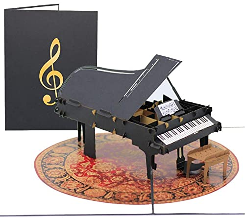 Grand Piano Pop Up Thank You Card