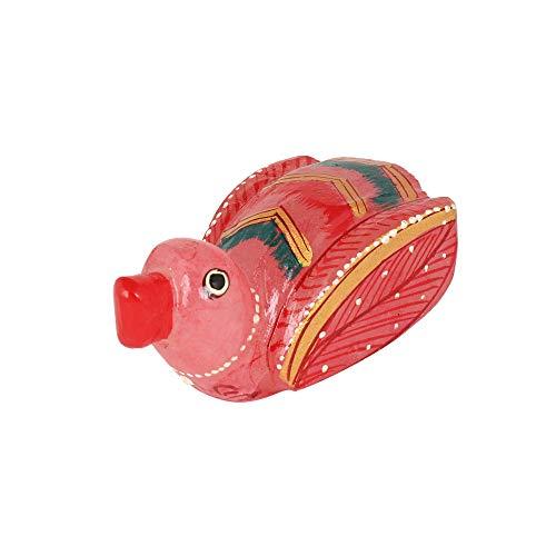 GEMHUB Estatua de pato de cuarzo rosa natural 314.00 quilates para decoración del hogar