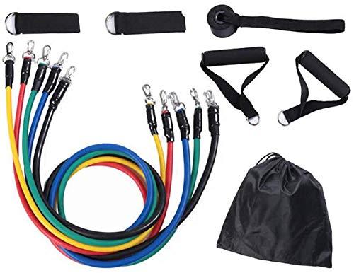 BDSMAGE 11PCS Resistance Bands Fitnessband Widerstandsbänder Set, mit 5 Übungsbänder, 2 Schaumstielen, 2 Knöchelriemen, Türanker und Tragetasche für Krafttraining, Physiotherapie, Home Gyms Workout