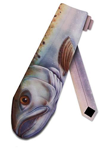 キングサーモンTieメンズ魚ネクタイby 3つルーカー