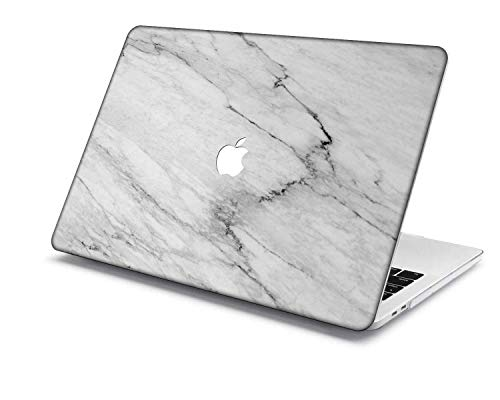 MacBook Pro 15 Case Model:A1707/A1990,QiuHuiCase Plastic Shell Cover Only Compatible 2018-2016 Release MacBook Pro 15' with Touch Bar Touch ID (Marble 142)