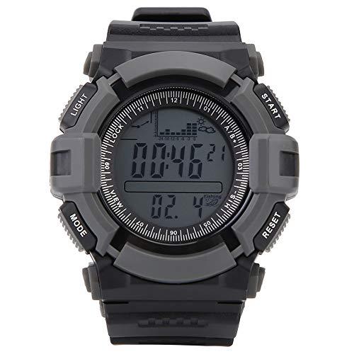 Demeras Smart Watch LED Clip Uhr Unisex Taschenuhr Wettertrendanzeige Angeln Barometer Hohe Qualität für Outdoor-Sportarten zum Klettern Laufen