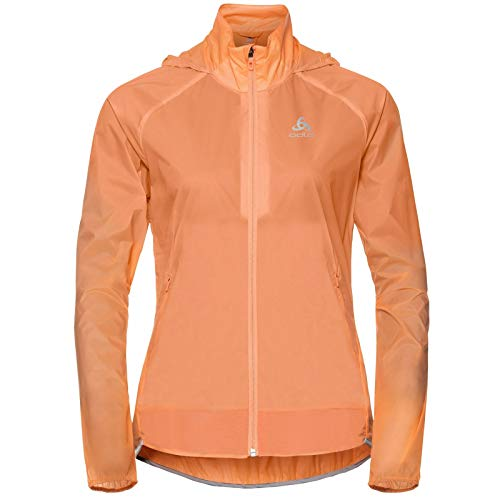 Odlo Damen Zeroweight Dual Dry Jacke, Papaya, XL
