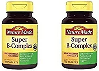 Nature Made Super B Complex Tablets, 160 Count ( Pack of 2)