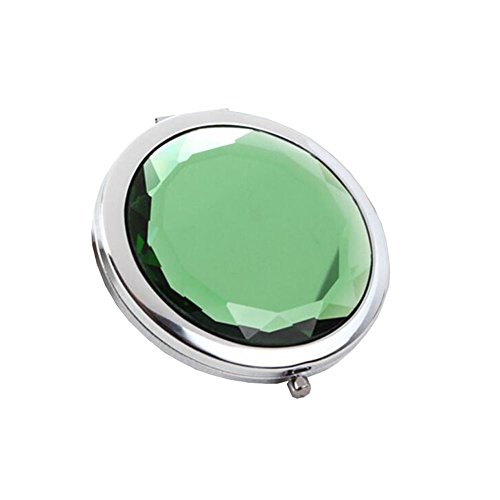 Maquillage Folding Portable Cosmetic Voyage Pocket Mirror Compact, Vert