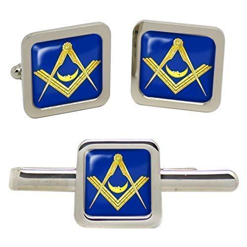 Junior Deacon Masonic Tieslide Lot de boutons de manchette pour homme