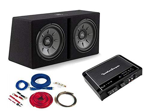 JBL | Rockford Basspaket Komplettset Verstärker Dual Subwoofer Kabelset 1000 W