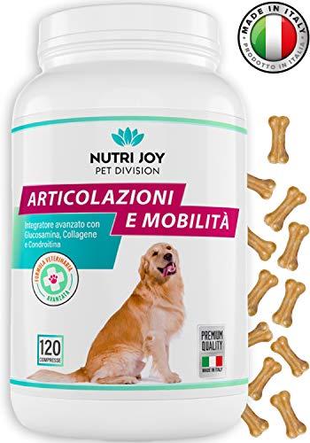 Integratori per Cani Articolazioni [ 120 COMPRESSE ] Fornitura 3/6 Mesi | Made in Italy | Integratore per Cani Naturale con Curcuma | Condroitina, Artiglio del Diavolo, MSM