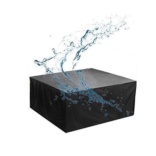 NINGWXQ Beschermingszeil Waterdicht ademend Oxford Stof terras Rotan Cover, diverse maten, 2 kleuren (Color : Black, Size : 100X100X140cm)