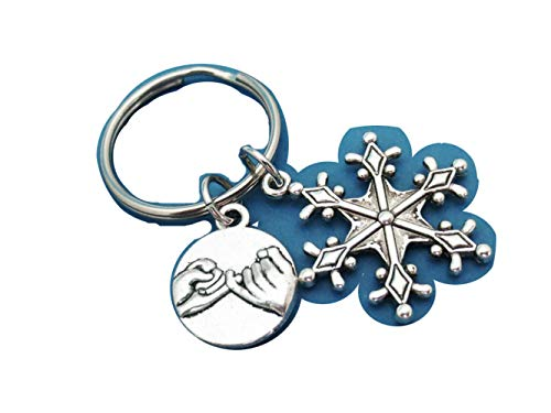Pinky, Promise, Snowflake Key chain, Snow, Key Ring, Lovers, Best Friends, Birthday, Christmas, Gift, Accessory (#2)