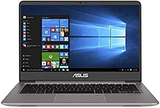 Asus ZenBook UX410UF-GV008T Laptop - Intel Core i5-8250U, 14-Inch FHD, 1TB + 128GB SSD, 8GB,  2GB VGA-MX130, Eng-Arb-KB, Windows 10, Gray