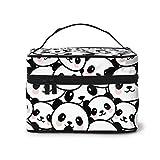 Trousse de Maquillage Mignon Dessin animé Panda Blush Visage Motif Grand Sac de Voyage cosmétique étui Organisateur Pochette Maquillage Rangement Sacs de Toilette