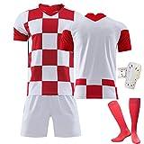 FDSEW Ropa Deportiva de fútbol para Adultos para niños Equipo de Croacia # 7 Rakitic # 10 Camiseta Modric Uniformes de fútbol Personalizados para el hogar 26 Customized