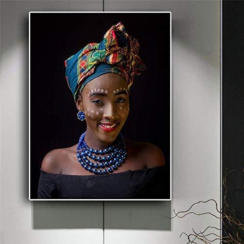 Canvas volwassen kinderen kinderen olieverfschilderijZwarte Afrikaanse naakte vrouw ketting Scandinavische stijlVerjaardag bruiloft nieuwe accommodatie decoraties geschenken