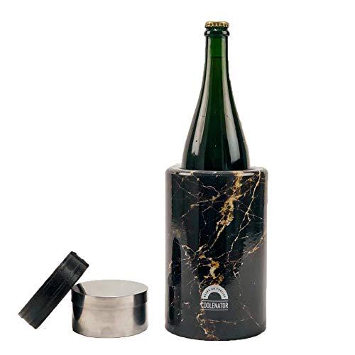 Coolenator Pro con elemento congelador extraíble – Enfriador activo de botellas – hasta 6 horas – Apto para todo tipo de botellas y jarras – Ligero y duradero – Viene en 3 colores – mármol negro
