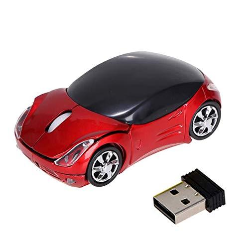 DDyna Ratón inalámbrico para Coche, ratón inalámbrico de 2,4G, ratón Ferrari, ratón para Coche, Dibujos Animados,...