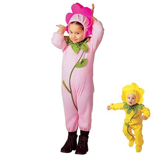 Amakando Kinderkostüm Blume Blumenkostüm Kinder 110 rosa Blümchenkostüm Blumenkind Kostüm Cozy Suit Blüte Faschingskostüm Overall