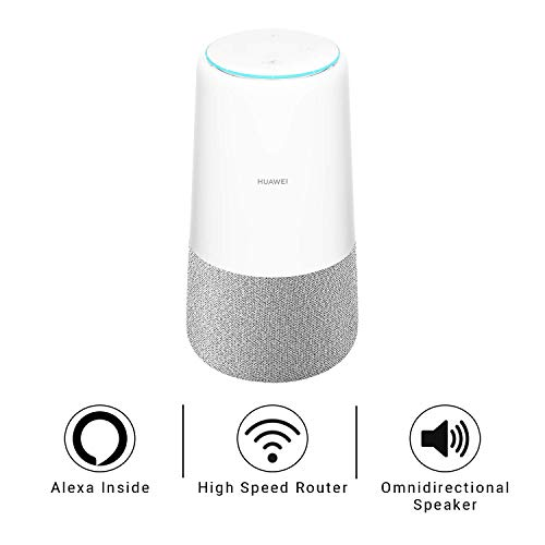 HUAWEI AI Cube Smart Speaker with LTE Mobile Connection (CAT.6), 4G Router, Amazon Alexa Built-in,...