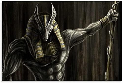 """Lienzo Y Arte De Pared PóSter Gods of Egypt Movie Gods of Anubis para decoración de Comedor Pintura Pared Y Estampados Cuadros 23.6""""x35.4""""(60x90cm) Sin Marco"""
