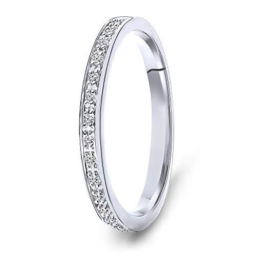 MIORE Mujer oro 14 quilates (585) oro blanco redonda GH Diamond