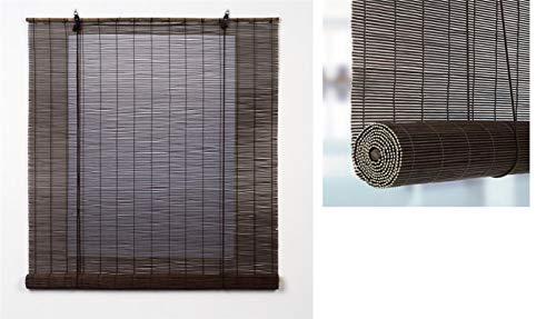 TIENDA EURASIA Estores - Persiana de Bambú Interior, Ventanas y Puertas (Marron, 60 x 140 cm)