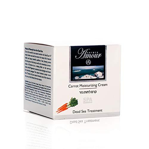 Carrot Crème hydratante pour femme 50 ml avec minéraux de la mer Dead Sea Hydratant pour la peau Protection anti-âge et anti-rides
