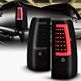 ACANII - For 2003-2006 Chevy Silverado 1500 2500 3500 Black Housing Smoked Lens LED Tube Tail Lights Brake Lamps Pair