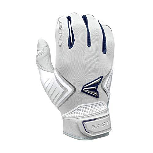 EASTON GHOST Fastpitch Softball Batting Glove, Women's, Small, White / Navy
