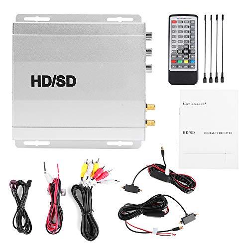 TV Digital DVB-T Receptor de señal de TV Digital 2 sintonizador Antena Control Remoto Car DTV Box Sistema Multimedia Europeo