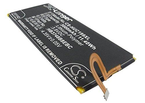 CS-HUC199XL Batería 3000mAh Compatible con [Huawei] Ascend G7, Ascend G7 Plus, Ascend G7-L01, Ascend G7-L03, Ascend G7-TL00, Ascend G7-UL10, Ascend G7-UL20, C199, C199-CL00, C199S, G8 Premium Edition
