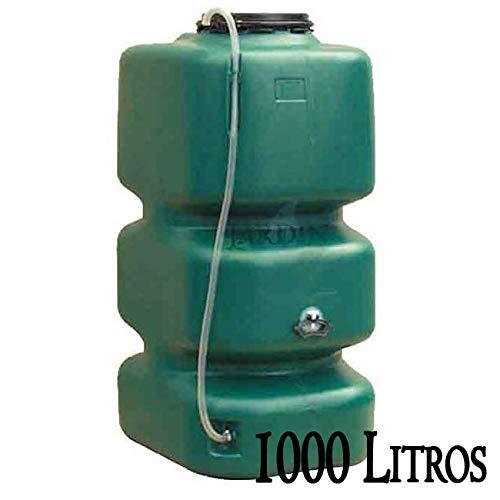 DEPOSITO POLIETILENO agua de lluvia 1000 LITROS. Largo 77 cm, Ancho 105 cm, Alto 174 cm. Para recuperación de agua de lluvia en el jardín o en la bodega.