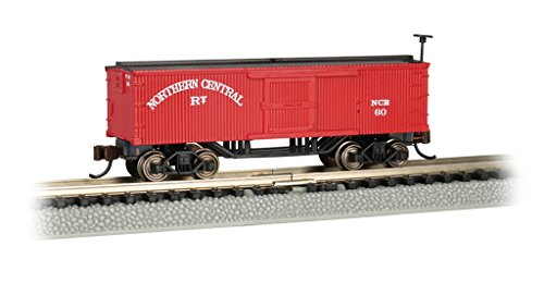 Bachmann Old-Time Box Car - Northern Central - N Scale, Prototypical...
