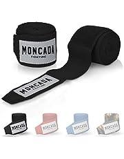 Moncada Fighting 4m Boksbandage met Diumlus - Bandage Boksen met extra brede klittenbandsluiting - Sport Boks Bandage voor Kickboxen, MMA, Muay-Thai
