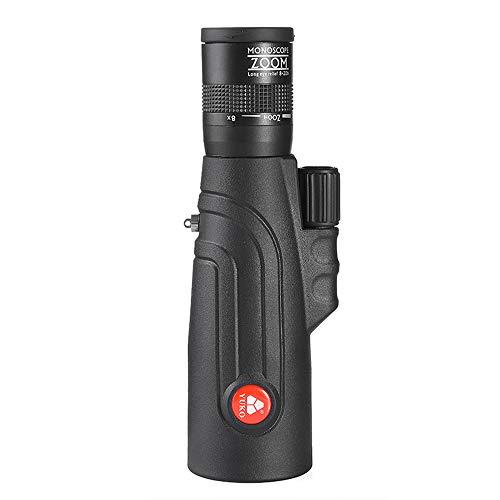 TDWYJ Telescopio Monocular,Monocular Zoom HD 8-20x50 Luz Baja Visión Nocturna Teléfono móvil Gafas de cámara al Aire Libre