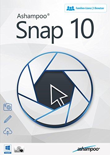 Snap 10 - Einfach alles am Bildschirm aufnehmen und bearbeiten 3 USER Lizenz für Windows 10, 8.1, 8, 7, Vista