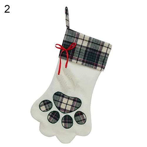 xMxRing Medias de Navidad Calcetín de Navidad Perro de la Navidad de la Pata de la Media de Caramelo Bolsa de...