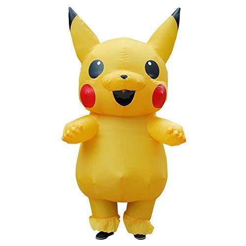 Bombilla blanca/Pikachu/Dinosaurio Disfraz inflable Adulto Niños Mono Disfraz Disfraz Cosplay Fiesta Ropa divertida