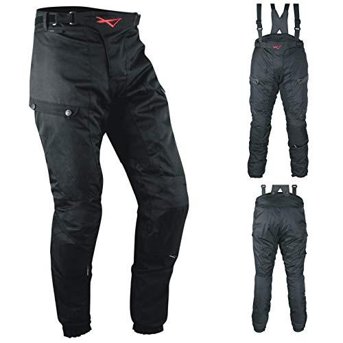 A-Pro Pantaloni 3 Strati Moto Tessuto Cordura Impermeabile Sfoderabile Termico Uomo 36