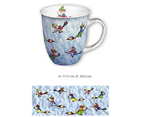 magicaldeco XL- Porzellan- Tasse, Kaffeepott, Kaffeebecher - Fliegende Hexen Rundum