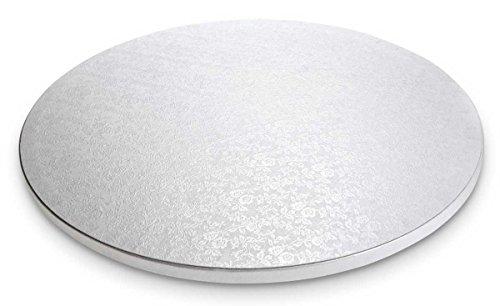 Städter 900028,Cake Board, bandeja redonda para tartas, Plástico, Blanco, 30x 30x 1.2cm