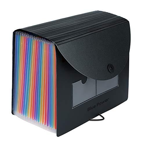 Clasificadores Carpetas de Acordeón,24 Bolsillos Expandible Acordeon,A4 Ampliación Separadores Archivadores Carpetas con Fundas de Plastico,Rainbow Archivadora Documentos Organizador Clasificador