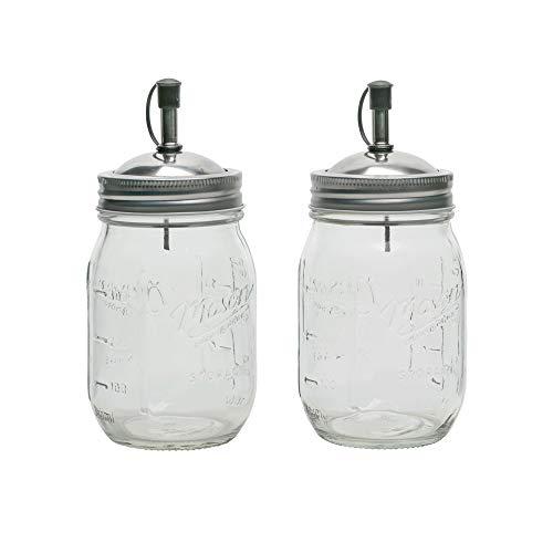 Mason Craft And More - Juego de aceitera y vinagre (473 ml)
