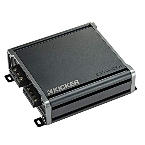 KICKER CX400.1 400 Watt Class D Mono Amplifier for Car Audio Speakers, Black