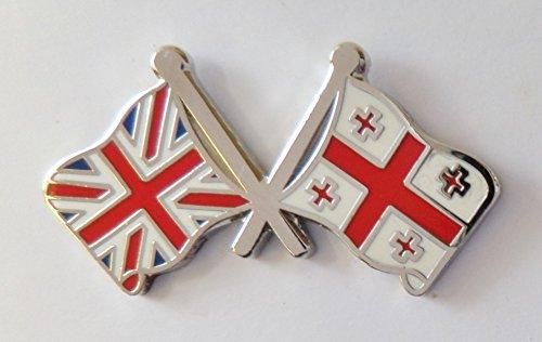 1000 drapeaux de la Géorgie et drapeau du Royaume-Uni