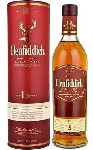 Whisky Glenfiddich 15 Anos 750ml 40% - Single Malt -original
