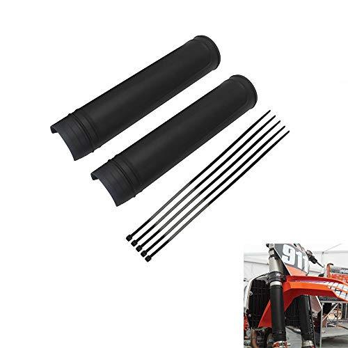 AnXin Protector de horquilla delantera para motocicleta, universal, color negro