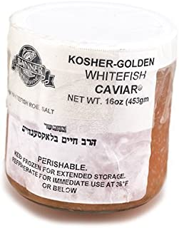 Kosher Whitefish Golden American Caviar - 16 oz