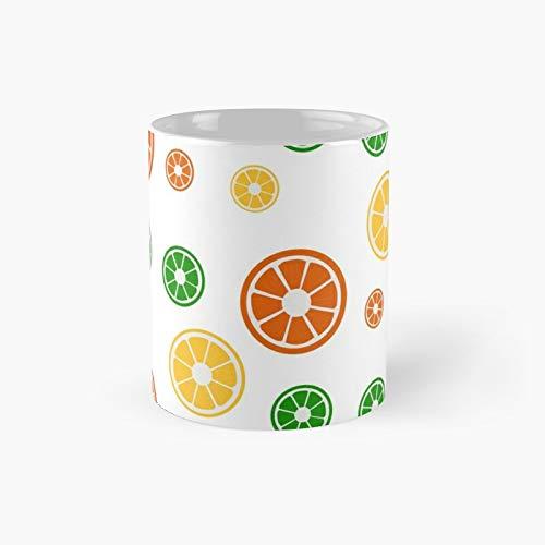 Paquete de pegatinas de frutas taza clásica mejor regalo tazas de café divertidas 11 oz mejor Oz