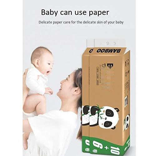 16 Rollen Toilettenpapier kernlos Rolle Papier verdickte Bambus Zellstoff Natur Home Toilettenpapier Handtücher, 16 rolls/lift, weiß, 5