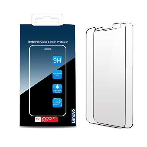 [2-Pack] Moto E5 Play Screen Protector, Lenovo Original Tempered Glass Screen Protector, Anti-Scratch, Anti-Fingerprint, Bubble-Free,Ultra Clear for Moto E5 Play